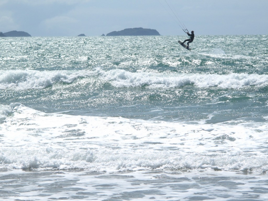 Kitesurfing Motuihe Island New Zealand
