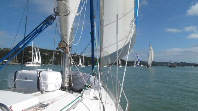 Sailing out of Opua