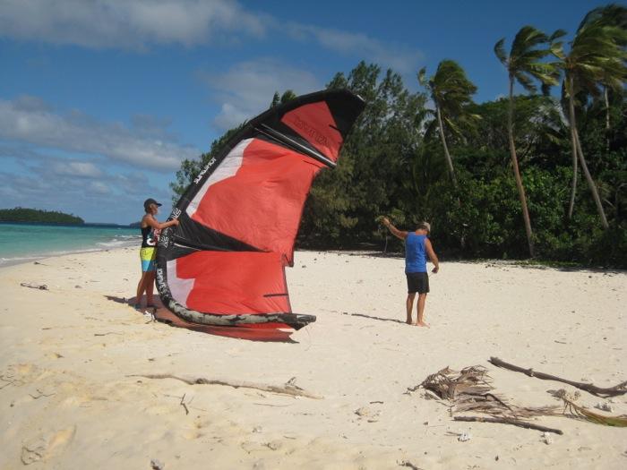 Kitesurfing Nuku