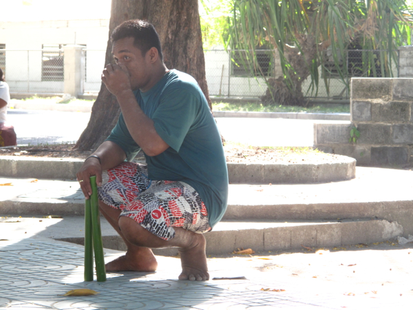 A stick throwing game to commemorate Kiribati's attendance in the 2014 Commonwealth games