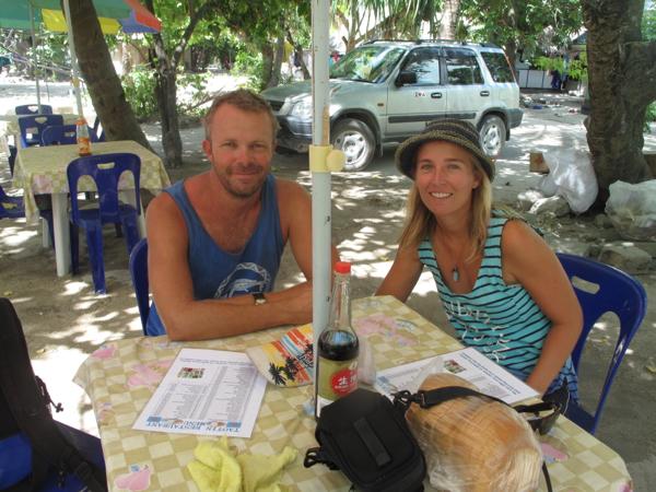 Lunch one of the few restaurants in Kiribati