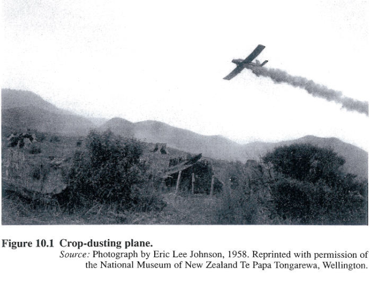 Phosphate spraying in Northern NZ from 'Our sea of phosphate' by Katerina Teaiwa